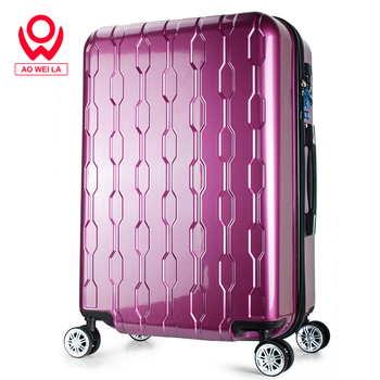 Aoweila 2028 inch customized wear-resistant waterproof suitcase, large capacity ABS + PC hard case luggage