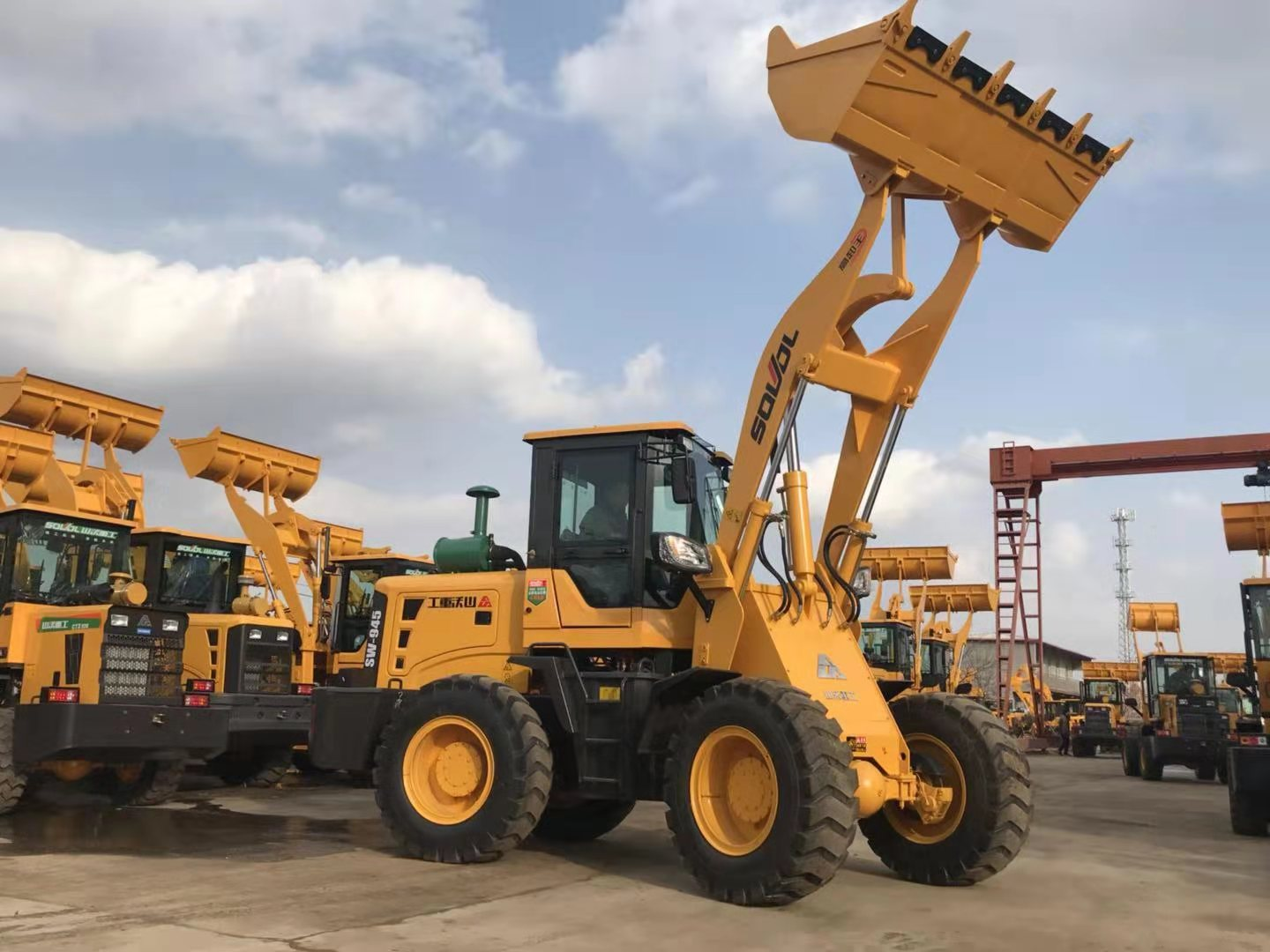SW940 cheap price wheel loader with heater,4.5m dumping height wheel loader for sale