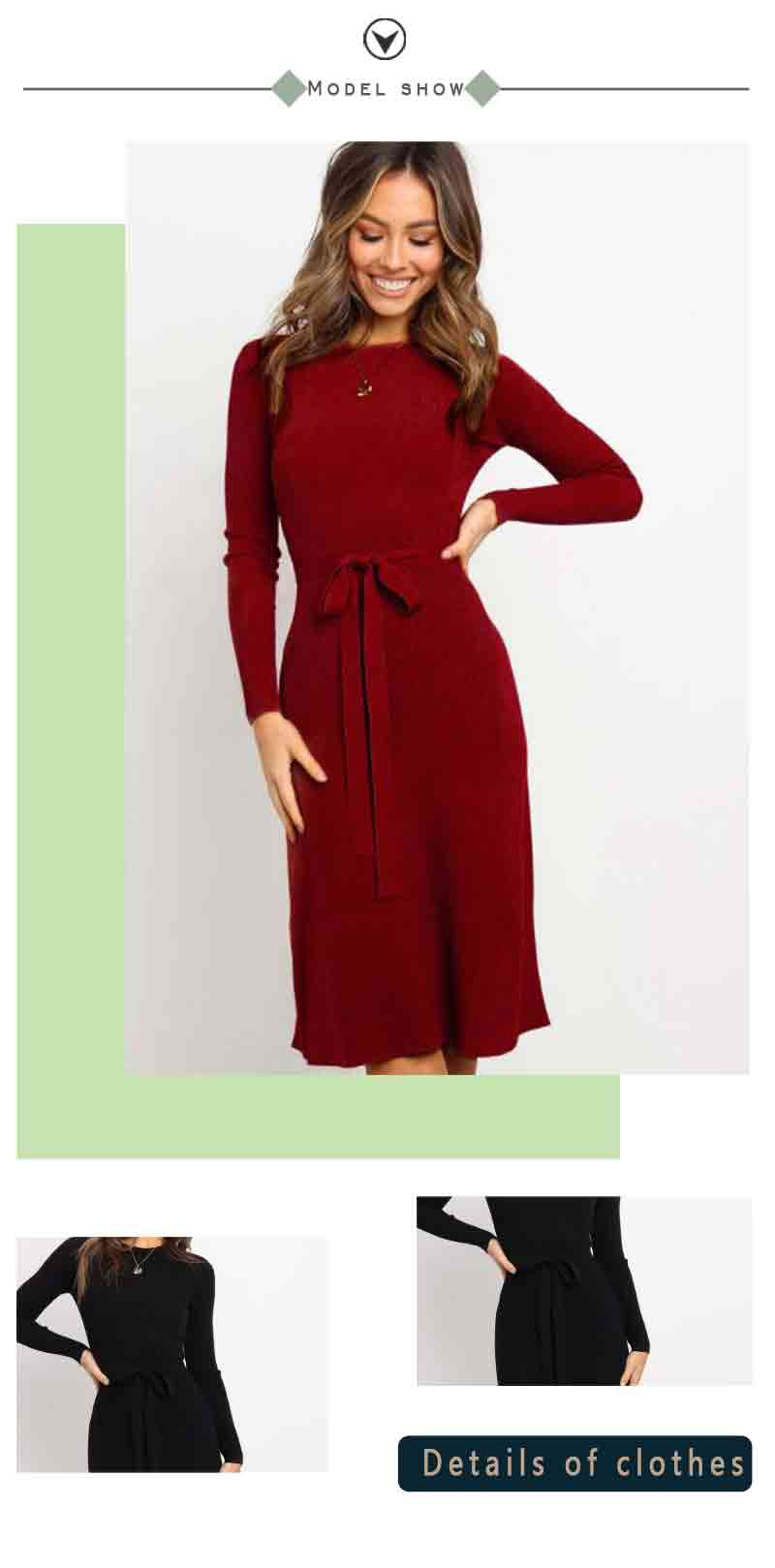 Elasticity Slim Formal Evening  Ladies Elegant Autumn and Winter Sexy Dress