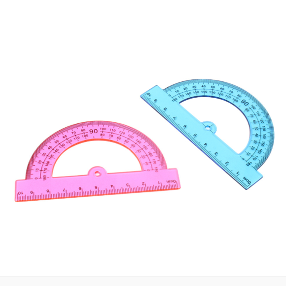 Student Eco-friendly  Plastic Ruler Set with Multi Shapes