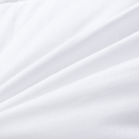 hotel white percale bedding fabric bed set satin 300 tc