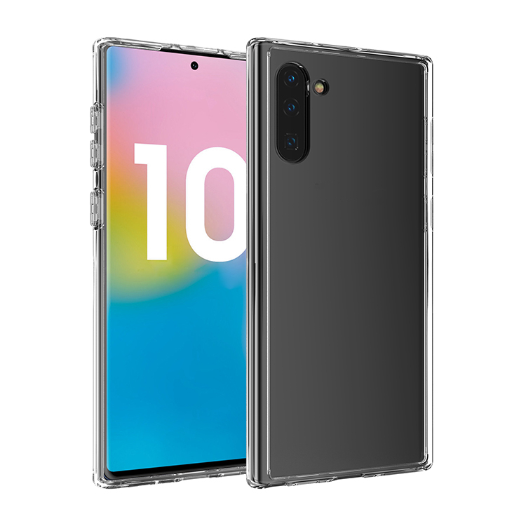 Ultra Thin Phone Case Cover Tpu Bumper PC Clear Transparent Phone Case Wireless Charging For Samsung Galaxy Note 10 Note 10 <strong>P</strong>