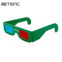 Oem cheap anaglyph red-cyan paper 3d movie glasses