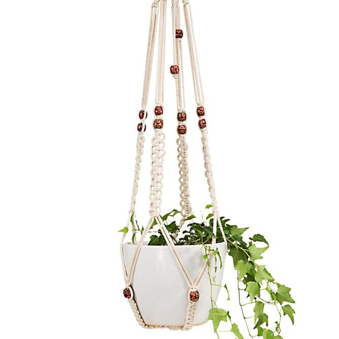 Macrame Plant Hangers Indoor Outdoor Hanging for Home <strong>Decoration</strong>