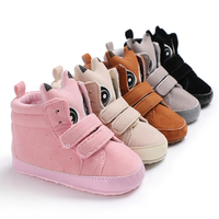 Wholesale fashion winter cotton ankle outdoor sports prewalker infant baby boots