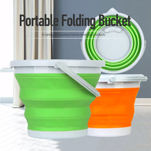 5L Round Thickened Folding Fish Telescopic <strong>Brush</strong> Car Wash Trunk Storage Bucket With Lid