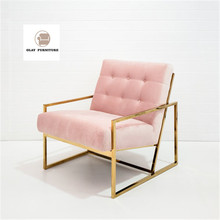 Living room <strong>furniture</strong> set new design pink velvet sofa