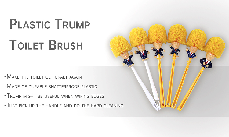 Hot Selling Toilet Bathroom Cleaning Donald Trump Toilet Brush