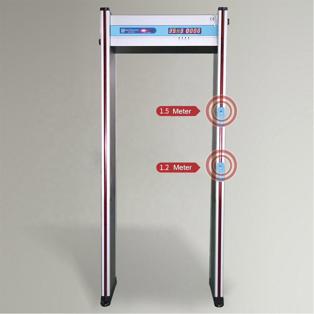 High Well performance Professional door frame metal detector MCD-200R infrared body temperature detector