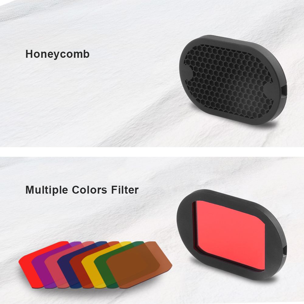 Professional Flash Kit Camera Flash Diffuser Honeycomb Color Filter For GODOX V1 V860II YONGNUO 600EX Flash Accessories