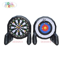 Outdoor activities airtight inflatable soccer dart board