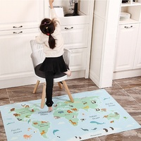 R.E.A.C.H and PHTHALATE FREE soft vinyl BABY high chair splat mat for Mess Free Mealtimes and Playtime