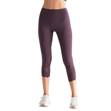 2019 new wholesale high waist rise nude push up high-elastic mesh splicing sports fitness yoga pants