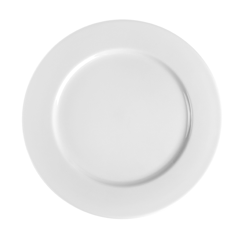 Hot Sale 100% Melamine 8'' Dinner Flat Plate, Durable Restaurant China Plates Round