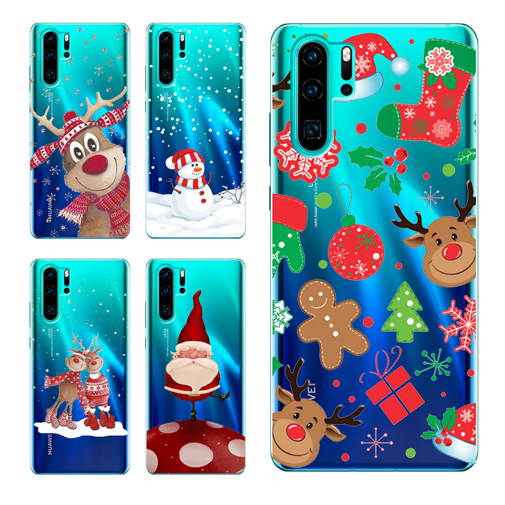 Cartoon Christmas Phone <strong>Case</strong> For Huawei P20 P30 Honor10 Lite Honor 8S 7C Y5 P smart <strong>Z</strong> 2019 Santa Claus elk Soft Silicone Cover