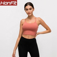 custom logo Quick Dry Sexy women crop workout Fitness Strappy tank top