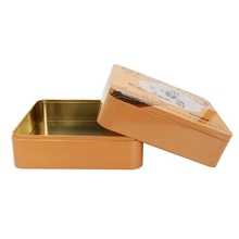 Factory Printing Square Metal Tin Box Tin <strong>Containers</strong> for Mooncake