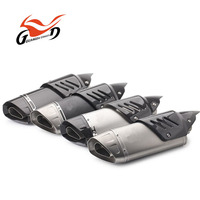 Moto GP Style 61mm Slip On Stainless Steel 2.5 Motorcycle Exhaust Muffler For 1000CC Racing Motorcycle