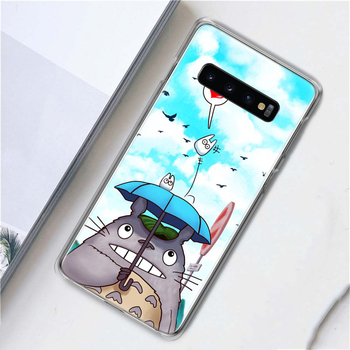 For Samsung S10 S8 S9 Plus Hard Plastic matte phone case for iPhone 11 XS print Totoro Half-edge Protective cover