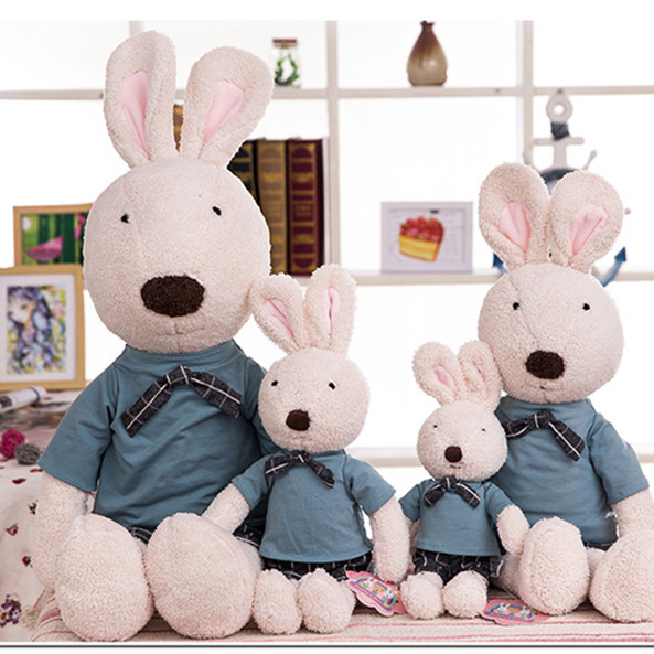 <strong>Rabbit</strong> Wearing School Uniform Bunny Stuffed Plush Toy Wholesale