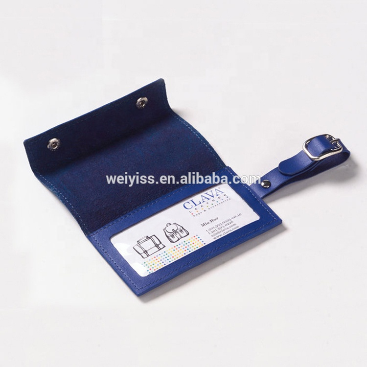 Wholesale Multi Color Personalized Cheap Price Soft Genuine Leather Luggage Tags