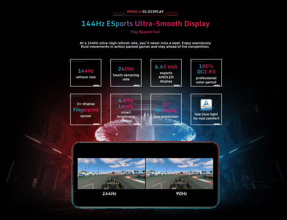 "Nubia Red Magic 5G Mobile Phone 6.65"" 8/12GB RAM Snapdragon 865 Android 10 NFC Gaming Phone"