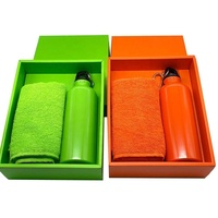 Promotion Gift Aluminum Sport Water Bottle And Towel Gift Set