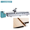 wood frame making PVC profile door wrapping machine EVA PUR hot melt glue veneer profile wrapping machine