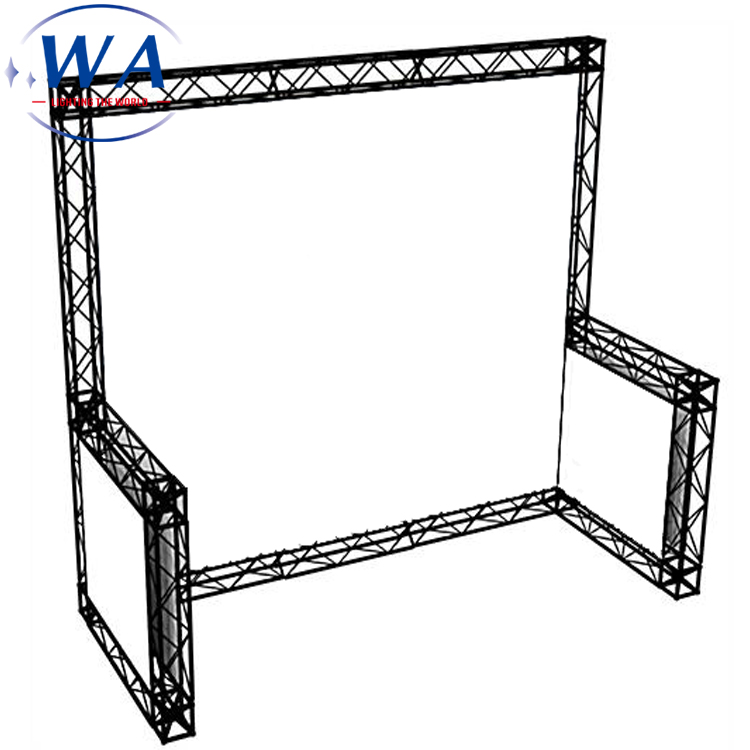 Booth Exhibition Display Rental Aluminum Truss System Square Roof Truss <strong>Stage</strong>