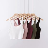 Z33928A basic design solid color sling tank tops for women tank tops for women