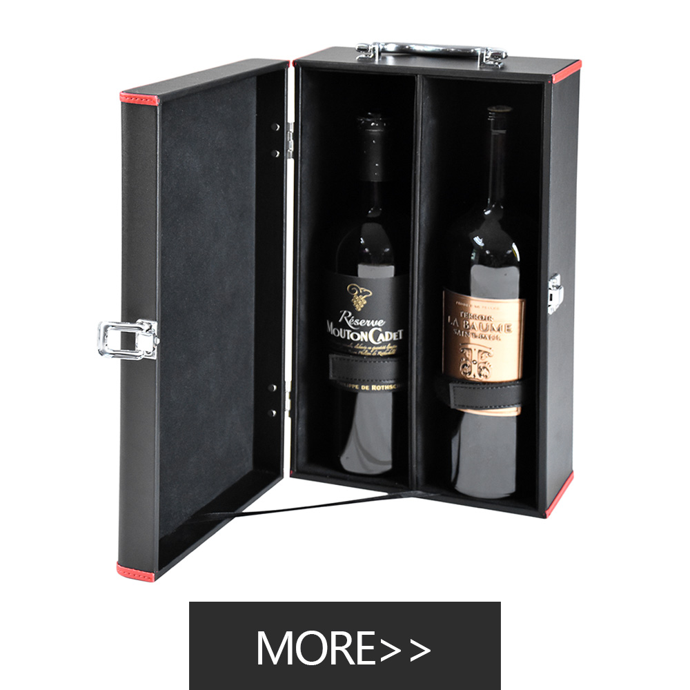 personalised deluxe PU leather wine set gift box