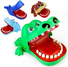 Mouth Dentist Bite Finger Toy Large Crocodile Pulling Teeth Bar Games Toys Kids Funny Toy For Children Gift