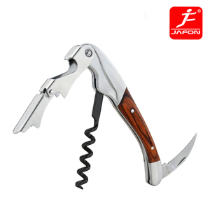 China supplier hot sale wood handle waiters corkscrew wine opener