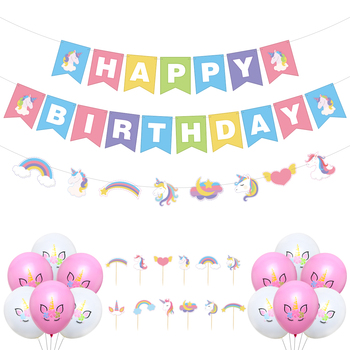 Umiss Unicorn Party Supplies Happy Birthday Decorations