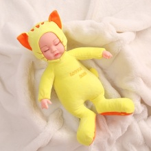 Wholesale endearing plush <strong>animal</strong> cat soft doll 3 lullabies music cartoon Silicone Baby gift Doll