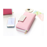 Manufacturers wholesale Korean long section wallet women new phone wallet case