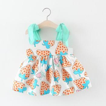 fashion online kids summer wear strawberry patterns toddler dress clothes little girls clothing dresses baby frock designs fancy