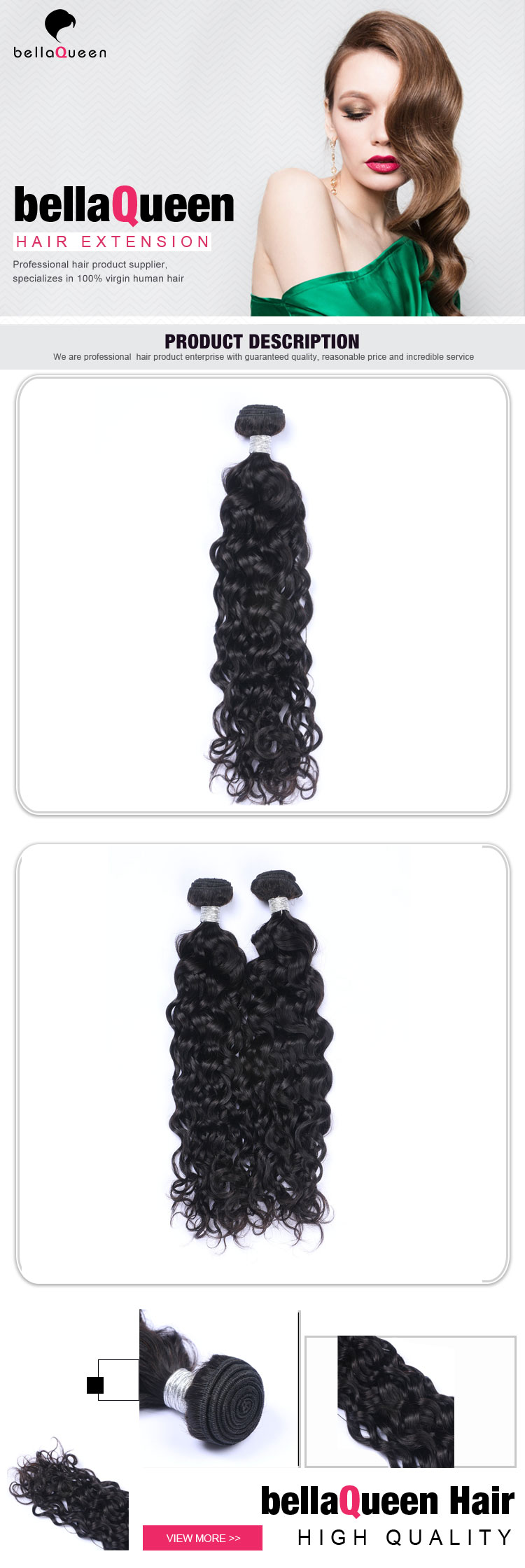 Malaysian human hair weave unprocessed water wave hair wigs hair natural