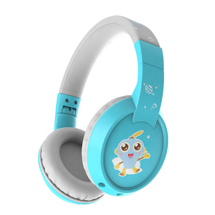 Professional Children Headset Education Wireless Bluetooth Music Voice Kids Headphones With Cute Sticker