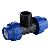 Plastic Material HDPE pipe Fittings PP Push Fit Compression Fittings