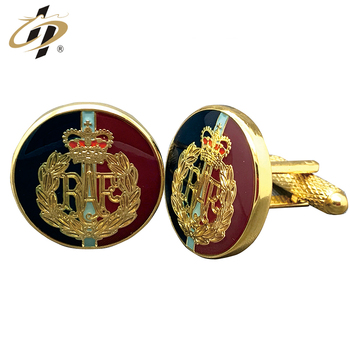 New design make your own gold plated brass material custom cufflinks