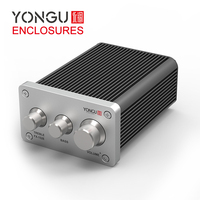 YONGU 80*45mm Custom DIY Hifi Anodized Aluminum Preamp Chassis Power Amplifier Enclosure Hifi Amplifier
