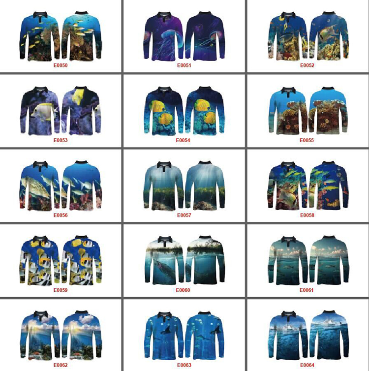 men 100% polyester Quick dry customize fishing apparel