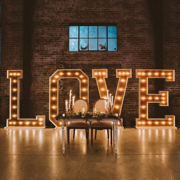 5Ft Acrylic Big Letters 1M Custom Love Signs Large Led Wedding Marquee Letters Light