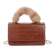 New arrival crossbody bags faux fur top-handle luxury handbags for women <strong>designers</strong>