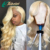 JcXBL cuticle aligned mink brazilian hair full blonde lace front wigs ,613 deep parting lace front wig blonde lace wigs