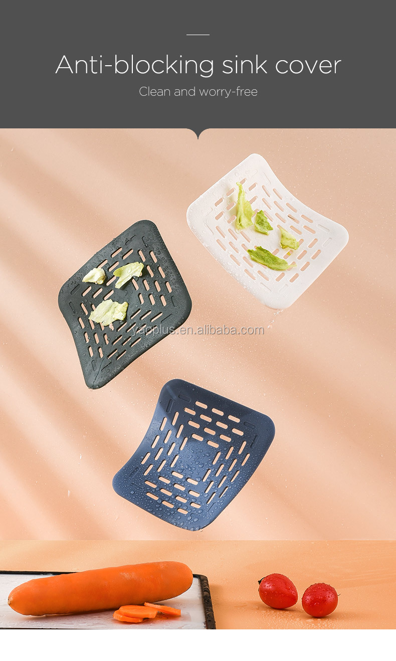 Floor Drain, Square Shower Drain with Removable Cover Grate Hair Catcher Strainer Anti Clogging