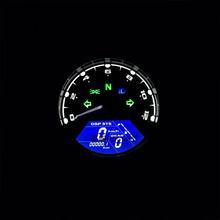 12000RPM Universal Motorcycle LCD Digital Speedometer Tachometer Odometer Gauge With Signal Gear For Motorbike