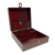 Wood Stash Box with Lock Dark Brown Storage Chest