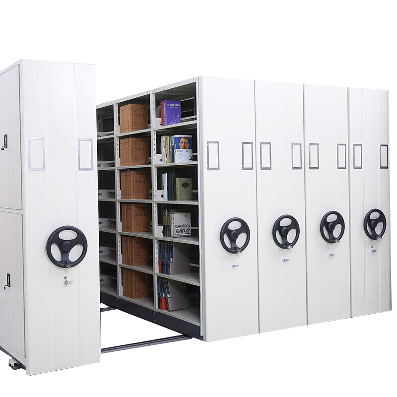 Luoyang manufacturer High density steel compact oil painting mobile shelving for museum